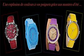 montres colorees