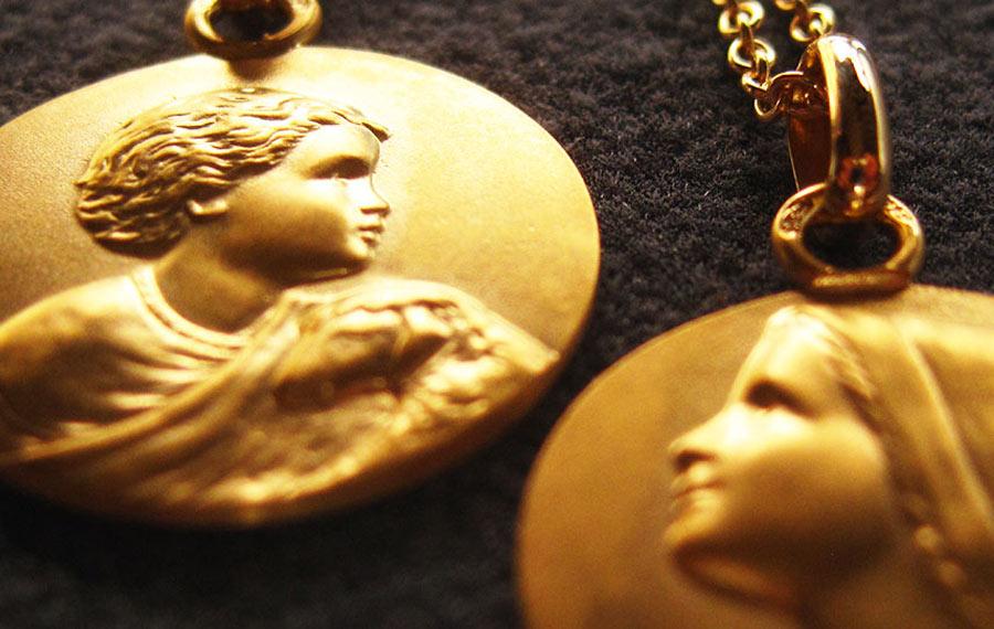 medaille bapteme Anne.K
